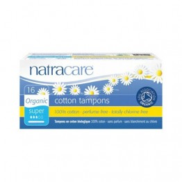 Natracare Certified Organic Cotton Tampons with Applicator - Super (16)