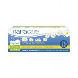 Natracare Certified Organic Cotton Tampons - Regular (20)