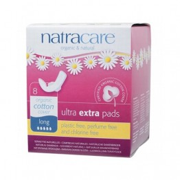 Natracare Certified Organic Cotton Ultra Extra Pads with wings - Long (8)