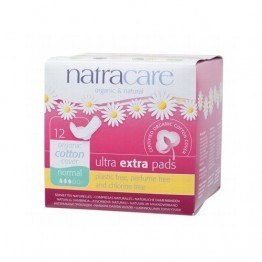 Natracare Certified Organic Cotton Ultra Extra Pads with wings - Normal (12)