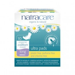 Natracare Certified Organic Cotton Ultra Pads with wings - long (10)