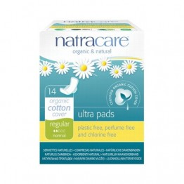 Natracare Certified Organic Cotton Ultra Pads with wings - regular (14)