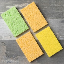 Natural Value Dual Surface Cellulose Sponges 4 Pack