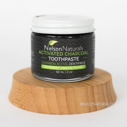 Nelson Naturals Activated Charcoal Whitening Toothpaste 60ml - Peppermint