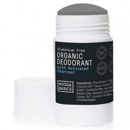 Noosa Basics Organic Deodorant Stick with Activated Charcoal - 65g