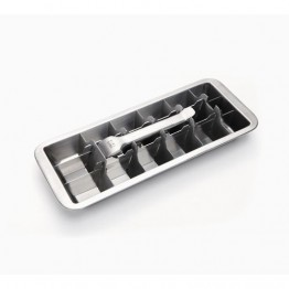 Onyx Stainless Steel Ice Cube Tray - 18 cubes