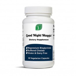 Organic 3 Good Night Maggie - Magnesium Glycinate - 50 Capsules