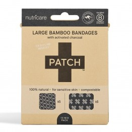 Patch Large Bamboo Bandages Charcoal - Bites & Impurities (10 Pack)