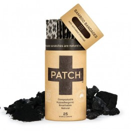 Patch Bamboo Strip Bandages Charcoal - Bites & Splinters (25 Pack)