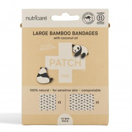 Patch Large Bamboo Bandages Coconut - Abrasions & Grazes (10 Pack)