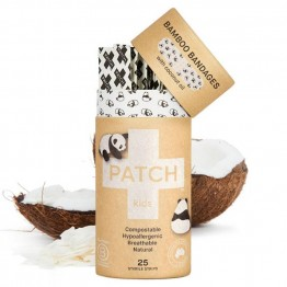 Patch Bamboo Strip Bandages Coconut - Abrasions & Grazes (25 Pack)