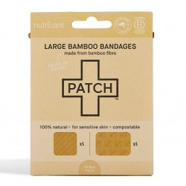 Patch Large Bamboo Bandages Natural - Cuts & Scratches (10 Pack)