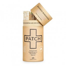 Patch Bamboo Strip Bandages Natural - Cuts & Scratches (25 Pack)