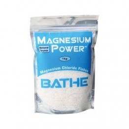 Power Bodycare Magnesium Power Bath Soak - Magnesium Chloride Flakes 1kg