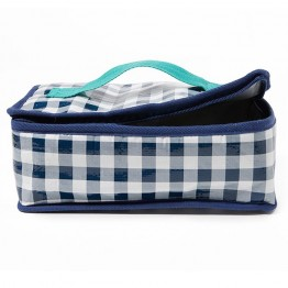 Project Ten Insulated Lunch Bag - Navy Gingham