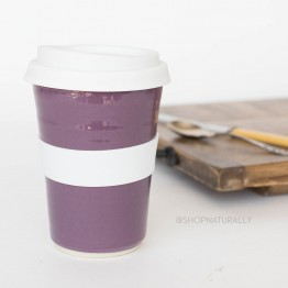 Southern Cross Pottery Stoneware Coffee Cup - 340ml Purple