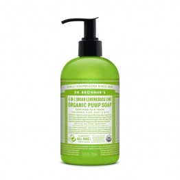 Dr Bronner's Organic Pump Soap 4-In-1 - Sugar Lemongrass Lime