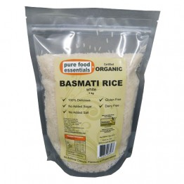 Pure Food Essentials Certified Organic Basmati Rice - 1kg