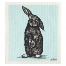 Retro Kitchen Swedish Dish Cloth - Sketch Rabbit