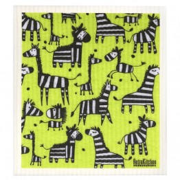 Retro Kitchen Swedish Dish Cloth - Zebra