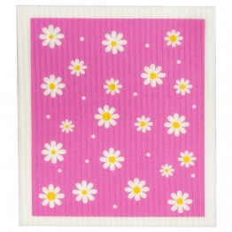 Retro Kitchen Swedish Dish Cloth - Daisy