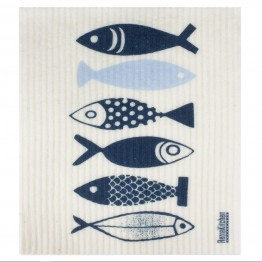 Retro Kitchen Swedish Dish Cloth - Fish