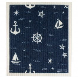 Retro Kitchen Swedish Dish Cloth - Nautical