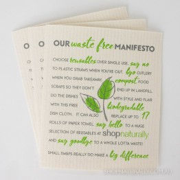 Retro Kitchen Swedish Dish Cloth - Waste Free Manifesto
