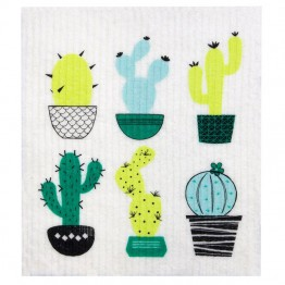 Retro Kitchen Swedish Dish Cloth - Cactus