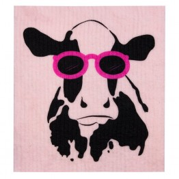 Retro Kitchen Swedish Dish Cloth - Cow