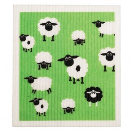 Retro Kitchen Swedish Dish Cloth - Sheep
