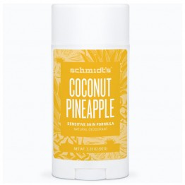 Schmidt's Natural Deodorant Stick for Sensitive Skin - 92g Coconut Pineapple