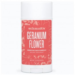 Schmidt's Natural Deodorant Stick for Sensitive Skin - 92g Geranium