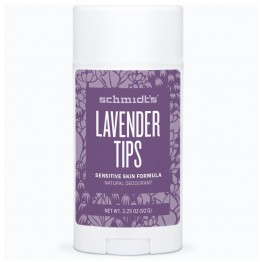 Schmidt's Natural Deodorant Stick for Sensitive Skin - 92g Lavender Tips