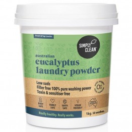 Simply Clean Laundry Powder 1kg - Eucalyptus