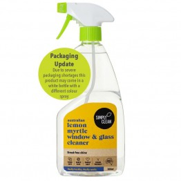 Simply Clean Window & Glass Cleaner 500ml - Lemon Myrtle