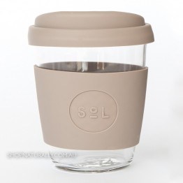 Sol Reusable Glass Coffee Cup 354ml (12oz) - Seaside Slate
