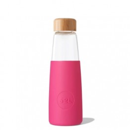 Sol Glass Water Bottle 410ml - Peacock Pink
