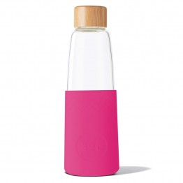 Sol Glass Water Bottle 850ml - Peacock Pink