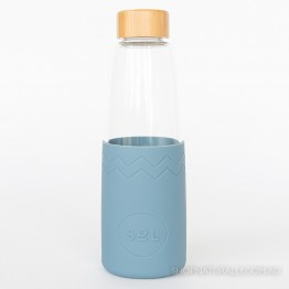 Sol Glass Water Bottle 850ml - Blue Stone