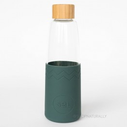 Sol Glass Water Bottle 850ml - Deep Sea Green