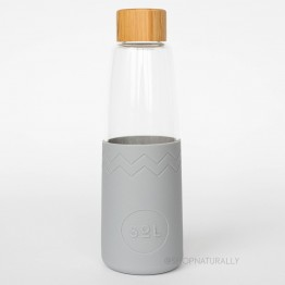 Sol Glass Water Bottle 850ml - Cool Grey