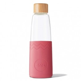 Sol Glass Water Bottle 850ml - Radiant Rose