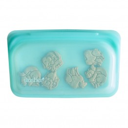 Stasher Reusable Silicone Leakproof Snack Pocket - Aqua