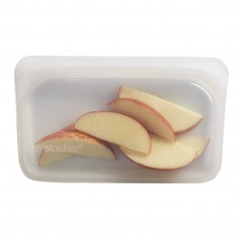 Stasher Reusable Silicone Leakproof Snack Pocket - Clear