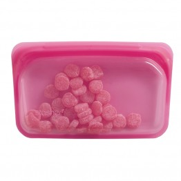 Stasher Reusable Silicone Leakproof Snack Pocket - Raspberry