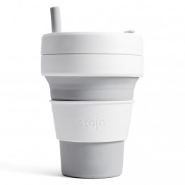 Stojo Biggie Collapsible Silicone Smoothie Cup - 470ml Dove