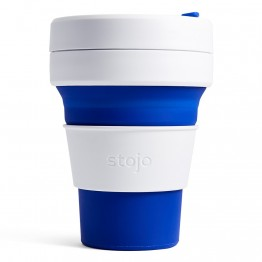 Stojo Pocket Collapsible Silicone Coffee Cup - 355ml Blue