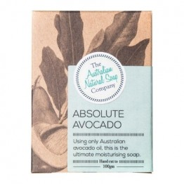 The Australian Natural Soap Co Absolute Avocado Unscented Soap Bar - 100g