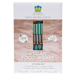 The Family Hub Organics Vegan Food Wrap Kitchen Set - 4 pack